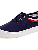 cheap -Boys' Shoes Canvas Spring Fall Comfort Loafers & Slip-Ons Walking Shoes Booties/Ankle Boots Stitching Lace For Casual Green Red Dark Blue