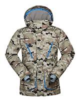 Per uomo Giacca da sci Caldo Ompermeabile Antivento Indossabile Traspirabilità Sci Ecologico Poliestere Tessuto in seta