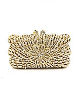 cheap -Women Bags Metal Evening Bag Crystal Detailing for Wedding Event/Party All Season Gold