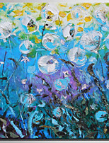 Hand-Painted Floral/Botanical Square,Rustic Modern One Panel Canvas Oil Painting For Home Decoration