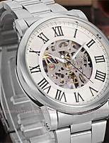 WINNER Муж. Нарядные часы Наручные часы Механические часы С автоподзаводом С гравировкой Нержавеющая сталь Группа Роскошь На каждый день