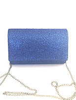 cheap -Women Bags PVC Satin Clutch Crystal Detailing for Event/Party All Season Blue Gold Silver