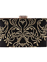 Women Bags Polyester Evening Bag Embroidery for Wedding Event/Party All Season Black