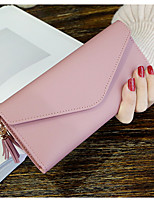 Women Bags PU Wallet Pockets for Casual Office & Career All Season Black Blushing Pink Drak Red Gray Purple