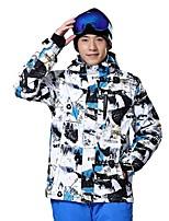 Herrn Skijacke Wasserdicht warm halten Windundurchlässig tragbar Atmungsaktivität Skifahren Ski Seide Kleidung