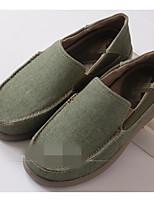 Homme Chaussures Toile Printemps Automne Confort Mocassins et Chaussons+D6148 Pour Décontracté Bleu de minuit Kaki Vert foncé