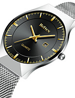cheap -Men's Casual Watch Fashion Watch Quartz Calendar Alloy Band Casual Minimalist Cool Silver
