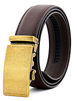 cheap -Men's Leather Alloy Waist Belt,Silver Gold Party Work Casual Solid Pure Color