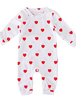 Baby Girls Hearts One-Pieces,Cotton Winter Spring/Fall Sweet Style Classic Style Long Sleeves White