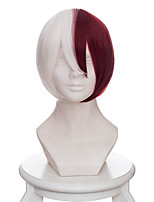 Cosplay Wigs My Hero Academy Battle For All/Boku no Hero Academia Todoroki Shoto Anime Cosplay Wigs 35 CM Heat Resistant Fiber Male