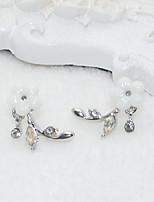Femme Boucles d'oreille goujon Strass Doux Adorable Imitation de perle Alliage Fleur Bijoux Pour Mariage Soirée