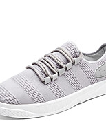cheap -Men's Shoes Tulle Fall Comfort Light Soles Sneakers For Casual Outdoor Gray Black White