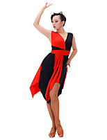 Latin Dance Dresses Women's Performance Chinlon Milk Fiber Sleeveless Dresses