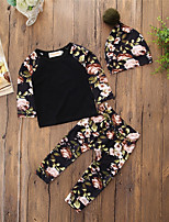 Baby Children's Daily Casual Floral Pattern Clothing Set,Hat Floral Spring/Fall Spring, Fall, Winter, Summer