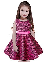 Girl's Print Dress,Cotton Polyester Sleeveless