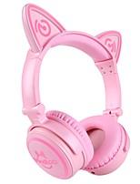 unicat mh-6 auriculares para niños, oreja de gato bluetooth v4.2 plegable en la oreja con micrófono