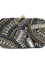 cheap -Women Bags Polyester Evening Bag Crystal Detailing Sequins for Wedding Event/Party All Season Black