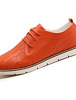 Men's Shoes Synthetic Microfiber PU PU Leatherette Spring Fall Comfort Oxfords For Casual Beige Orange Black