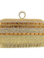 preiswerte -Damen Taschen Polyester Abendtasche Kristall Verzierung Quaste Pailletten für Hochzeit Veranstaltung / Fest Alle Jahreszeiten Gold Silber