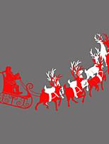 preiswerte -Person Tiere Weihnachten Fenster-Aufkleber,PVC/Vinyl Stoff Fensterdekoration