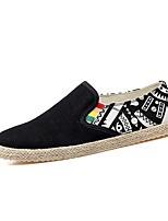 Hombre Zapatos Tela Primavera Otoño Confort Zapatos de taco bajo y Slip-On Para Casual Negro Azul Oscuro Negro/blanco