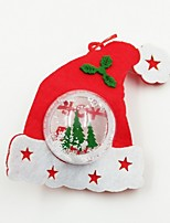 Hat Plastic Ball Non-Woven Fabric Christmas Ornament