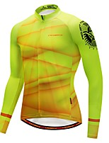 Cycling Jersey with Tights Men's Long Sleeve Bike Jersey Fleece Bike Wear Thermal / Warm Winter Sports Graphic Fashion Cycling / Bike