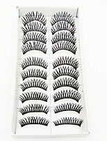 cheap -1 Eyelashes lash Full Strip Lashes Eyelash Crisscross Volumized Machine Made Fiber Black Band 0.10mm