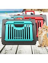 abordables -Chat sac à dos Animaux de Compagnie Transporteur Portable Pliable Couleur Pleine Café Rouge Vert