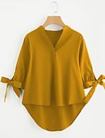 Camicia Da donna Per eventi Casual Vintage Romantico Tinta unita A V Rayon Sottile