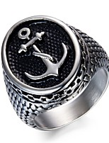 cheap -Men's Band Rings , Metallic Fashion Stainless Anchor Jewelry For Daily Going out