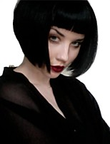 cheap -Women Wigs With Bangs Medium Long BoBo Black Color Synthetic Wigs