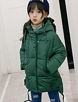 Girls' Solid Down & Cotton Padded,Polyester Winter