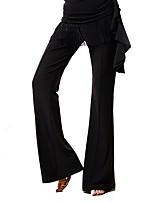 Ballroom Dance Bottoms Women's Performance Ice Silk Tassel(s) High Pants