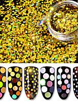 6 bouteilles / set laser holographique paillettes 6 couleurs packge nail art paillettes paillettes couleur mixte femmes ongles décoration