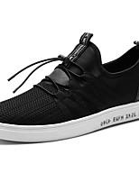 Недорогие -Для мужчин обувь Ткань Полиуретан Зима Осень Удобная обувь Кеды Назначение Повседневные Белый Черный Синий