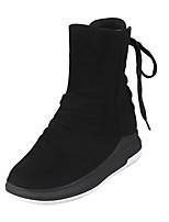 preiswerte -Damen Schuhe Kunstleder Winter Komfort Schneestiefel Stiefel Creepers Runde Zehe Booties / Stiefeletten Für Normal Schwarz Grau Grün