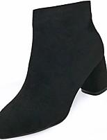 preiswerte -Damen Schuhe Gummi Winter Springerstiefel Stiefel Spitze Zehe Für Schwarz Braun