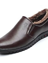 Men's Shoes PU Fall Winter Comfort Loafers & Slip-Ons For Casual Brown Yellow Black