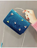 cheap -Women Bags Velvet Tote Buttons for Casual Winter Fall Blue Black Beige
