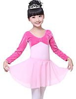 Ballet Bas Enfant Spectacle Mousseline de soie Taille haute Jupes