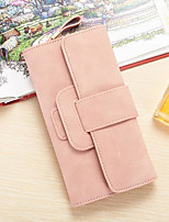 cheap -Women Bags PU Wallet Buttons for Casual All Season Blue Green Black Blushing Pink Gray