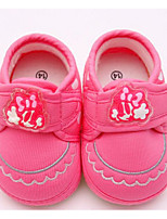 Baby Shoes Fabric Spring Fall Comfort First Walkers Flats For Casual Pink Red Gray