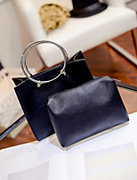 Women Bags PU Bag Set Pockets for Casual All Season White Black