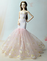 cheap -Dresses Dresses For Barbie Doll Pink Dress For Girl's Doll Toy