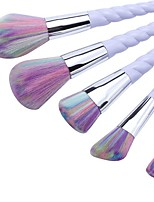 5 pcs Makeup Brush Set Synthetic Hair Full Coverage Plastic Face