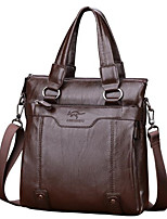 Women Bags All Seasons PU Briefcase Zipper for Wear to work Black Brown Khaki