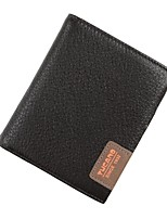 Men Bags Cowhide Wallet Pockets for Shopping Casual All Season Coffee