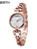 Mulheres Relógio Casual Relógio de Moda Relógio de Pulso Chinês Quartzo Impermeável Aço Inoxidável Banda Casual Elegant Minimalista Prata