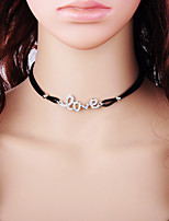Жен. Ожерелья-бархатки Круглый Сплав Мода Бижутерия Назначение Повседневные